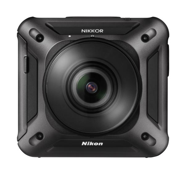Nikon KeyMission 360Экшн-камеры<br>Если речь идет о записи видео с эффектом полного присутствия, эта устанавливаемая экшн-камера — именно то, что надо. Она оснащена двумя светосильными сверхширокоугольными объективами NIKKOR и двумя КМОП-матрицами, что позволяет снимать сферические видеоролики в формате 4K/UHD? с углом обзора 360° и фотографии с разрешением 23,9 млн пикселей без «слепых» зон. Изображения, снятые обоими объективами, объединяются в фотокамере; все, что от вас требуется, — это нажать кнопку видеосъемки или спусковую кнопку затвора.<br><br><br><br><br> При этом будут охвачены все возможные точки обзора, и ни один участок не останется недоступным. Благодаря специальным креплениям можно снимать без помощи рук, а еще фотокамера является водонепроницаемой на глубине до 30 м без использования отдельного чехла?. Приложение SnapBridge 360/170? от компании Nikon дает возможность с легкостью оживить приключения в памяти или поделиться ими.<br><br>Тип: Компактная цифровая фотокамера<br>Тип матрицы, размер: 1/2,3 дюйма, КМОП<br>Эффективное число пикселей: 23,9 млн<br>Чувствительность ISO: От 100 до 1600 единиц ISO<br>Автофокусировка: Фиксированная фокусировка<br>Режим зоны автофокуса: Прибл. от 30 см до бесконечности (измеряется от центра передней поверхности объектива)<br>Выдержка синхронизации: От 1/8000 до 1 с, возможность выбора значения 10 с или 2 с<br>Контроль экспозиции: Программный автоматический режим экспозиции<br>Коррекция экспозиции: от –2,0 до +2,0 EV с шагом 1/3 EV<br>Видеоролики — размер кадра (в пикселях) и частота кадров: Когда для настройки NTSC/PAL установлено значение NTSC 2160/24p, 1920/24p, 960/30p, 640/120p, 320/240p, когда для настройки NTSC/PAL установлено значение PAL 2160/24p, 1920/24p, 960/25p, 640/100p, 320/200p<br>Монитор: нет<br>Носители данных: microSD, microSDHC, microSDXC<br>Коммуникационные функции: WiFi, Bluetooth<br>Формат файлов для хранения: Фотографии: JPEG, видеоролики: MP4 (видео: H.264/MPEG-4 AVC, звук: стерео AAC)<br>Год