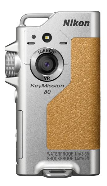 Nikon KeyMission 80 серебристыйЭкшн-камеры<br>Прочная, быстрая и всегда готовая к работе переносная экшн-камера KeyMission 80 станет вашей незаменимой спутницей, куда бы вы ни отправились. <br> <br> Благодаря мгновенному запуску и возможности работы без помощи рук она отлично подходит для походов...<br><br>Тип: Компактная цифровая фотокамера<br>Тип матрицы, размер: Фотокамера 1: 1/2,3 дюйма, КМОП, фотокамера 2: 1/5 дюйма, тип КМОП<br>Эффективное число пикселей: Фотокамера 1: 12,4 млн, Фотокамера 2: 4,9 млн<br>Чувствительность ISO: Фотокамера 1: от 64 до 1600 единиц ISO, фотокамера 2: от 64 до 800 единиц ISO<br>Автофокусировка: Фотокамера 1: АФ с функцией определения контраста2, фотокамера 2: фиксированная фокусировка<br>Режим зоны автофокуса: Фотокамера 1: по центру, фотокамера 2: –<br>Контроль экспозиции: Матричный, Программный автоматический режим экспозиции<br>Коррекция экспозиции: от –2,0 до +2,0 EV с шагом 1/3 EV<br>Монитор: ЖК-монитор TFT (сенсорный экран) с диагональю 4,4 см, разрешением приблизительно 230 тыс. точек и 5-уровневой регулировкой яркости<br>Носители данных: microSD, microSDHC, microSDXC<br>Коммуникационные функции: Wi-Fi, Bluetooth<br>Формат файлов для хранения: Фотографии: JPEG, видеоролики: MP4 (видео: H.264/MPEG-4 AVC, звук: стерео AAC)<br>Выдержка: Камера 1: От 1/6400 до 1 с; Камера 2: От 1/6400 до 1/30 с<br>Год выпуска: 2016<br>Объектив: NIKKOR<br>Фокусное расстояние: Фотокамера 1: 4,5 мм (эквивалентно объективу с фокусным расстоянием 25 мм в формате 35 мм [135]), фотокамера 2: 1,8 мм (эквивалентно объективу с фокусным расстоянием 22 мм в формате 35 мм [135])<br>Минимальная диафрагма: Фотокамера 1: f/2, фотокамера 2: f/2,2<br>Подавление вибраций: Фотокамера 1: VR со смещением линз (для снимков)1, комбинированное: со смещением линз и электронный VR (для видеороликов); фотокамера 2: электронный VR (видео)<br>Конструкция объектива: Фотокамера 1: 6 элементов в 6 группах, фотокамера 2: 4 элемента в 4 группах<br>Влагозащищенность: Да (до 1 м до 3