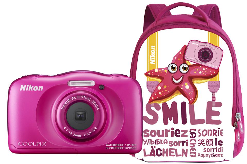 Nikon COOLPIX W100 с рюкзаком (розовый) от Nikonstore.ru