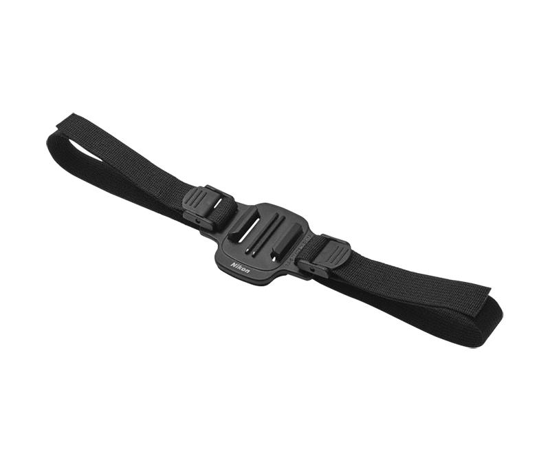 Nikon Крепление на шлем с фиксацией ремешком через вентиляционные отверстия AA-5Для экшн-камер<br>Нашлемный ремень позволяет закрепить определенные модели камер KeyMission на шлеме с вентиляционными прорезями. Чтобы закрепить камеру, пропустите ремень через вентиляционные прорези с обеих сторон шлема.<br><br>Тип: Аксессуар для KeyMission<br>Артикул: VAW24201