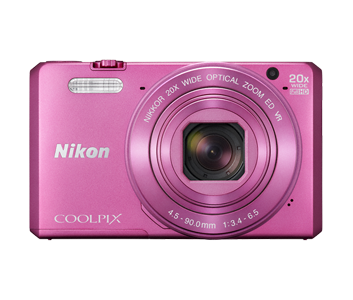 Nikon COOLPIX S7000 розовыйСерия Style<br>Сверхмощная компактная 16-мегапиксельная фотокамера COOLPIX S7000 с 20-кратным оптическим зумом, расширяемым до 40-кратного с помощью функции Dynamic Fine Zoom?, дает возможность запечатлеть все детали объекта съемки независимо от расстояния. Легко де...<br><br>Тип: Компактная цифровая фотокамера<br>Формат матрицы: 1/2,3 дюйма<br>Тип матрицы, размер: КМОП: прибл. 6,2 x 4,6 мм<br>Эффективное число пикселей: 16 млн<br>Процессор (АЦП): EXPEED C2<br>Чувствительность ISO: 125–1600 единиц ISO; 3200, 6400 единиц ISO (доступна при использовании режима «Авто»)<br>Автофокусировка: АФ с функцией определения контраста<br>Режим зоны автофокуса: Приоритет лица, ручной выбор с 99 зонами фокусировки, по центру, ведение объекта, АФ с обнаружением объекта<br>Выдержка синхронизации: До 1/4000 (электронный затвор)<br>Режимы съемки: «Покадровый» (настройка по умолчанию), «Непрерывная В» (частота кадров при непрерывной съемке: прибл.7, 9 кадров в секунду, максимальное количество кадров, снимаемых непрерывно: прибл. 7), «Непрерывная Н» (частота кадров при непрерывной съемке: прибл. 2 кадра в секунду, максимальное количество кадров, снимаемых непрерывно: прибл. 7), «Буфер предв. съемки» (частота кадров при непрерывной съемке: 15 кадров в секунду, максимальное количество кадров, снимаемых непрерывно: 25, в том числе максимум 4 кадра, хранящихся в буфере предварительной съемки), «Непр. В: 120 кадров/с» (частота кадров при непрерывной съемке: прибл. 120 кадров в секунду, максимальное количество кадров, снимаемых непрерывно: 50), «Непр. В: 60 кадров/с» (частота кадров при непрерывной съемке: прибл. 60 кадров в секунду, максимальное количество кадров, снимаемых непрерывно: 25)<br>Контроль экспозиции: Автовыбор сюжета, сюжетные режимы («Портрет», «Пейзаж», «Интервальное видео», «Спорт», «Ночной портрет», «Праздник/в помещении», «Пляж», «Снег», «Закат», «Сумерки/рассвет», «Макро», «Еда», «Фейерверк», «Простая панорама», «Портрет питомца»), «Освещение сзад
