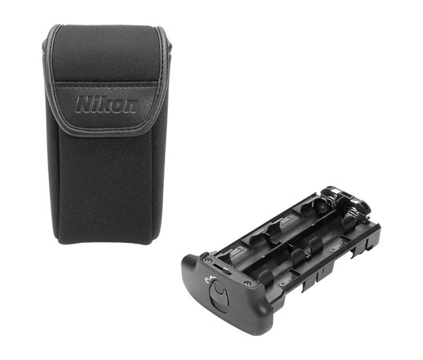 Nikon Держатель для батарей MS-40Питание фотокамер<br>Держатель предназначен для установки 8 батарей размера AA в мощную высокоскоростную питающую батарейную ручку MB-40 совместимую с фотокамерой F6. <br> <br> Он так же совместим с питающей рукояткой MB-D10 для цифровых фотокамер.<br><br>Тип: Держатель для батарей<br>Артикул: FXA10346