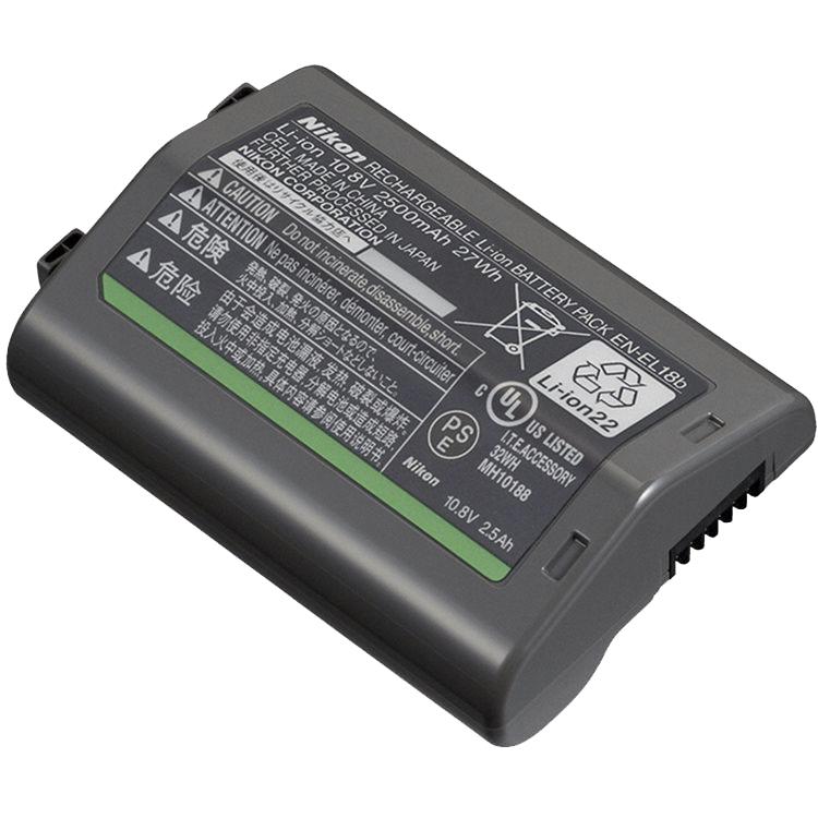 Nikon Батарея EN-EL18bПитание фотокамер<br>Ёмкость 2500 mAh. <br> <br> Номинальное напряжение 10.8 V. <br> <br> EN-EL18b Li-ion аккумулятор можно заряжать с помощью зарядного устройства MH-26а или MH-26.<br> <br> Для установки в камеру должна использоваться крышка батарейного отсека BL-6.<br> <br> Предназначен для фотокамер: D4, D4s, D5.<br><br>Тип: Литий-ионная аккумуляторная батарея<br>Артикул: VFB12101