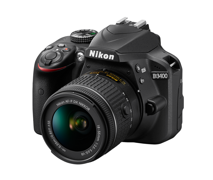 Nikon D3400 Kit AF-P DX 18-55mm f/3.5-5.6G VR (чёрный)