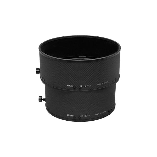 """Nikon Бленда для объектива HK-27 LENS HOOD AF-S 400mm f/2.8D II BLACKБленды<br>Бленда значительно ослабляет постороннюю засветку, уменьшая блики и устраняя """"раздвоенность"""" изображения. Она также служит для защиты объектива.<br><br>Тип: Бленда для объектива<br>Артикул: JAB63001"""