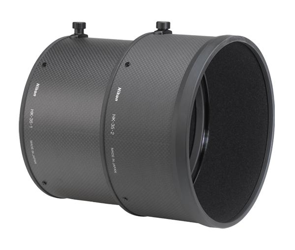 """Nikon Бленда для объектива HK-35 for AF-S VR600mm f/4GБленды<br>Бленда значительно ослабляет постороннюю засветку, уменьшая блики и устраняя """"раздвоенность"""" изображения. Она также служит для защиты объектива.<br><br>Тип: Бленда для объектива<br>Артикул: JAB63801"""