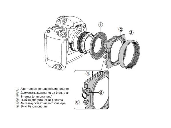 Nikon AF-3 Держатель желатиновых фильтров. Производитель: Nikon, артикул: 517
