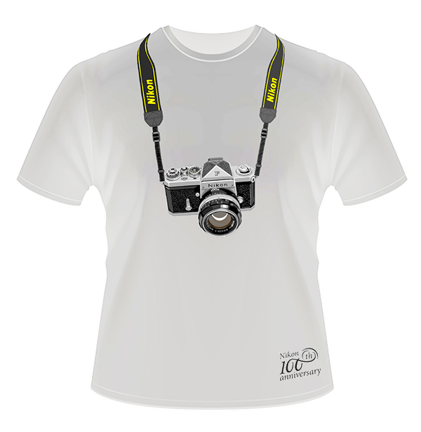Nikon Футболка с юбилейным логотипом 100th (белая)