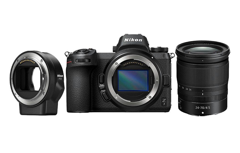 Nikon Фотокамера Z 7 + объектив 24-70/4 S + переходник FTZ + 64GB XQD фото