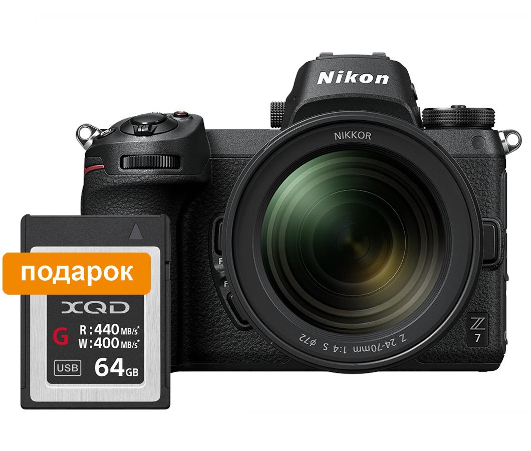 Nikon Фотокамера Z 7 + объектив 24-70/4 S