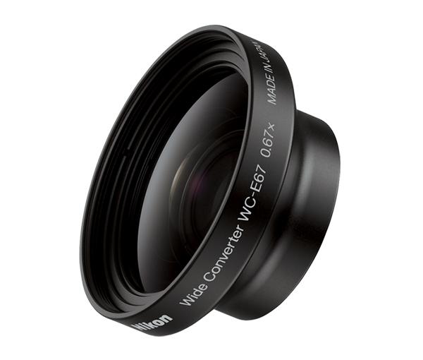 Nikon Широкоугольный конвертер WC-E67Оптика для фотокамер Coolpix<br>Эта компактная широкоугольная насадка в 0,67 раза расширяет поле зрения при использовании с фотокамерой COOLPIX. Для ее использования требуется переходное кольцо UR-E20 <br><br>Применяется для фотокамер серии: COOLPIX P5000 и COOLPIX P5100<br><br>Тип: Телеконвертор<br>Артикул: VAF00331