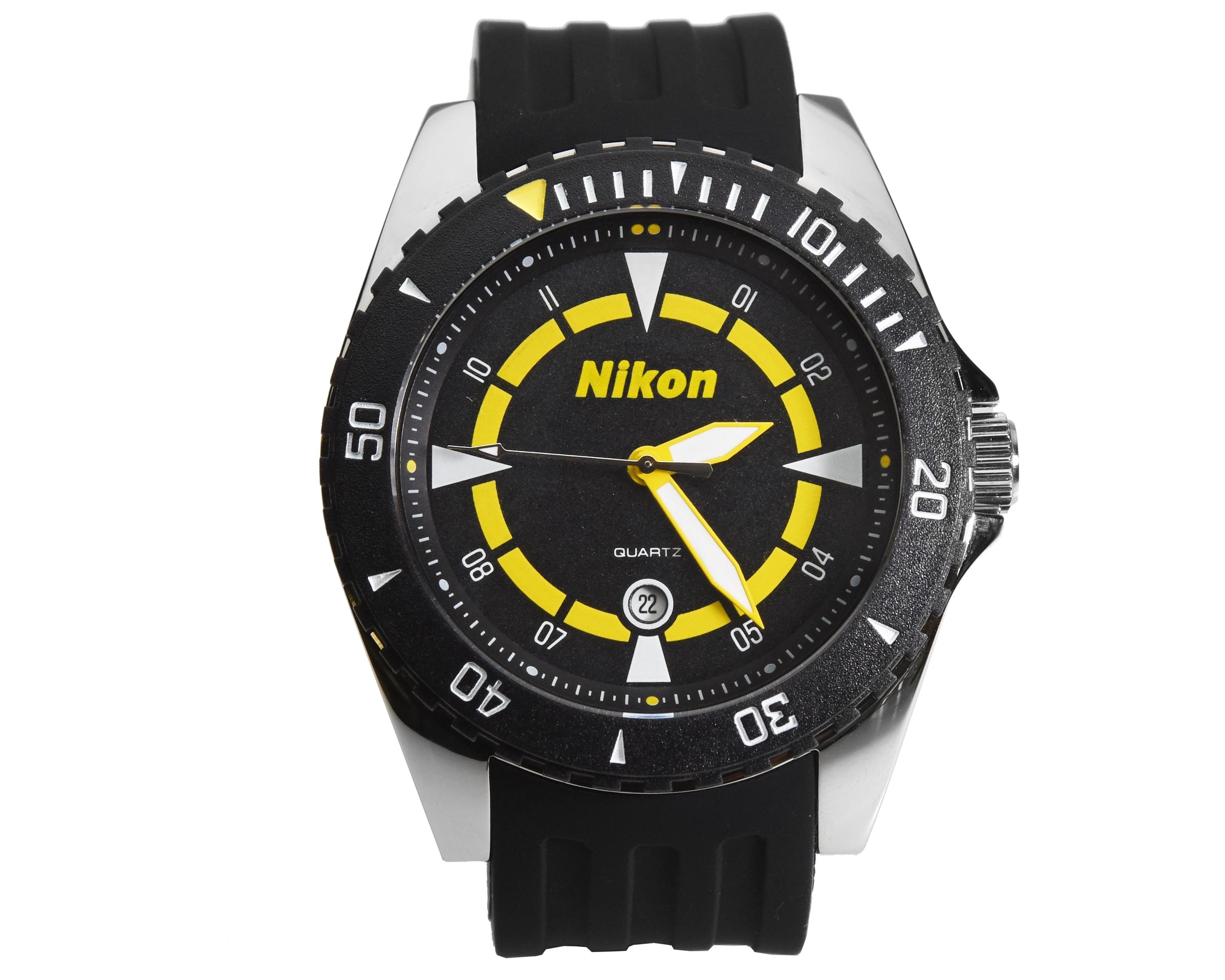 Nikon Часы с логотипом, Черный