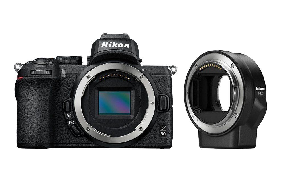 Nikon Фотокамера Z 50 + FTZ адаптер фото