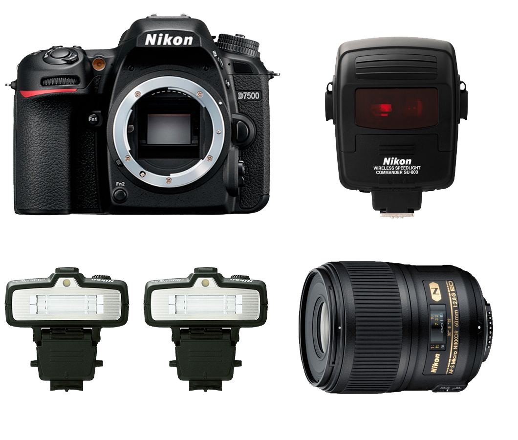 Nikon Dental Kit D7500 + AF-S MICRO 60mm f/2.8G  + Kit R1C1