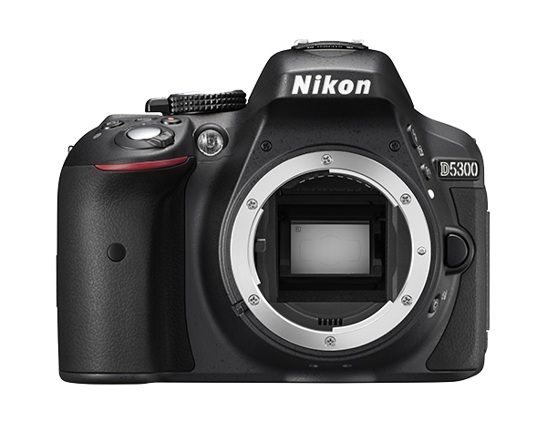 Nikon D5300 Body (без объектива)Любительские<br>Эта великолепная 24,2-мегапиксельная фотокамера формата DX, оснащенная встроенными модулями Wi-Fi и GPS, позволяет создавать невероятно четкие изображения, отражающие уникальное видение фотографа, и обмениваться ими с другими. <br><br><br> <br> Благодаря наличию функции Wi-Fi фотокамеру можно подключить непосредственно к интеллектуальному устройству и поделиться полученными фотографиями сразу же после съемки. С помощью функции GPS к фотографиям можно добавлять информацию о месте съемки. Вы сможете делиться впечатлениями о своих путешествиях и привязывать фотографии к картам мира. <br> <br> Кроме того, наличие большого экрана с переменным углом наклона позволяет с легкостью вести фото- и видеосъемку с неожиданных ракурсов, а превосходная производительность при недостаточном освещении (поддерживается расширение до 25 600 единиц ISO) обеспечивает резкость изображений во время съемки в темноте.<br><br>Тип: Цифровая зеркальная фотокамера<br>Формат матрицы: DX<br>Тип матрицы, размер: КМОП: 23,5 x 15,6 мм<br>Эффективное число пикселей: 24,2 млн<br>Процессор (АЦП): EXPEED 4<br>Чувствительность ISO: От 100 до 12 800 единиц ISO с шагом 1/3 EV. Также можно установить значение приблизительно на 0,3, 0,7 или 1 EV (эквивалентно 25 600 единицам ISO) выше чувствительности 12 800 единиц ISO<br>Автофокусировка: Multi-CAM 4800DX с определением фазы TTL, 39 точками фокусировки (включая 9 датчиков перекрестного типа)<br>Режим зоны автофокуса: Одноточечная АФ, 9-, 21- или 39-точечная динамическая АФ, 3D-слежение, автоматический выбор зоны АФ<br>Выдержка синхронизации: 1/200 с; синхронизация с затвором при выдержке не короче 1/200 с<br>Режимы съемки: Покадровая, непрерывная медленная, непрерывная быстрая, тихий затвор, автоспуск, спуск с задержкой (ML-L3), быстрый спуск (ML-L3); поддерживается интервальная съемка<br>Контроль экспозиции: P, S, A, M, aвтоматические режимы (авто; авто (вспышка выключена)); сюжетные режимы (Портрет, Пейзаж, Ребе