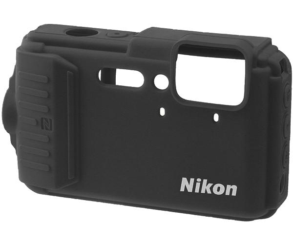 Nikon Силиконовый чехол для AW130 (черный)Чехлы, кофры<br>Защищает края корпуса от царапин. Изготовлен из силикона, легко надевается и снимается.<br><br>Тип: Чехол<br>Цвет корпуса: Черный