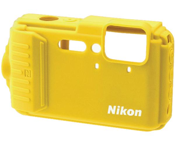 Nikon Силиконовый чехол для AW130 (жёлтый)Чехлы, кофры<br>Защищает края корпуса от царапин. Изготовлен из силикона, легко надевается и снимается.<br><br>Цвет корпуса: Желтый