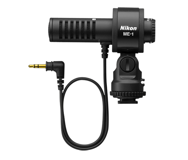Nikon Стереомикрофон ME-1Аксессуары для подключения<br>Специальный стереомикрофон, предназначенный для расширения возможностей записи звука при помощи совместимых фотокамер Nikon.<br><br><br> Эта эффективная альтернатива встроенному микрофону фотокамеры обеспечивает подавление нежелательных рабочих шумов, таких как шум при автофокусировке, и позволяет снимать видеоролики с отличным стереозвуком. Ветрозащита и переключатель фильтра верхних частот предотвращают помехи, создаваемые ветром или низкочастотным шумом, а компактный корпус обеспечивает комфорт во время съемки.<br><br>Тип: Стереомикрофон<br>Артикул: VBW30001