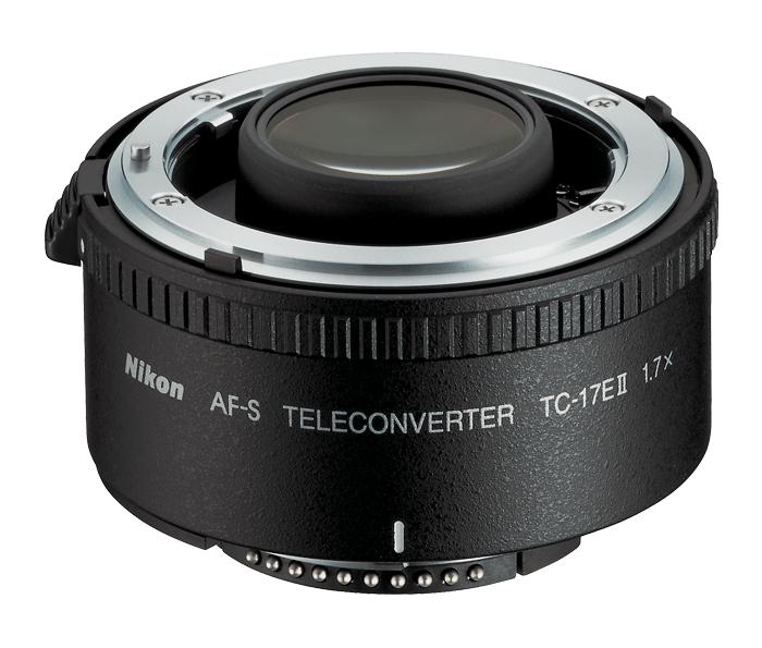 Nikon AF-S TC-17E II TeleconverterТелеконверторы<br>Этот телеконвертор увеличивает фокусное расстояние в 1,7 раза и уменьшает диафрагму на 1,5 ступени.<br><br>Тип: Телеконвертор<br>Фокусное расстояние: Увеличивает фокусное расстояние в 1,7 раза<br>Максимальная диафрагма: Уменьшает значение диафрагмы объектива на полторы ступени (в 3 раза)<br>Минимальная диафрагма: Уменьшает значение диафрагмы объектива на полторы ступени (в 3 раза)<br>Подавление вибраций: Нет<br>Конструкция объектива: 7 элементов в 4 группах<br>Угол зрения: Уменьшает угол зрения в 1,7 раза<br>Минимальное расстояние фокусировки: Такое же, как у используемого объектива<br>Установочный размер фильтра: Нет<br>Артикул: JAA912DA
