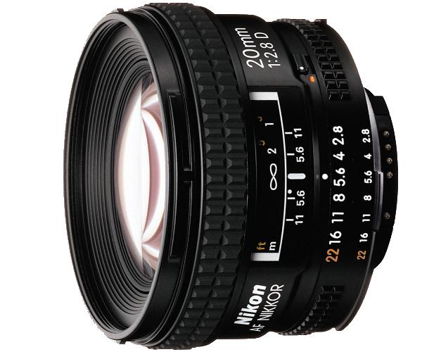 Nikon AF NIKKOR 20mm f/2.8DШирокоугольные<br>Благодаря динамической перспективе и большой глубине резко изображаемого пространства это объектив с фокусным расстоянием 20 мм обеспечивает непревзойденную резкость и уменьшает искажения при съемке интерьеров, пейзажей и других сюжетов. Превосходная оптика и компактная конструкция.<br><br>Тип: С фиксированным фокусным расстоянием<br>Фокусное расстояние: 20 мм (30 мм в формате DX)<br>Максимальная диафрагма: 2.8<br>Минимальная диафрагма: 22<br>Подавление вибраций: Нет<br>Конструкция объектива: 12 элементов в 9 группах<br>Угол зрения: FX: 94°, DX: 70°<br>Минимальное расстояние фокусировки: 0,25 м<br>Количество лепестков диафрагмы: 7<br>Установочный размер фильтра: 62 мм<br>Артикул: JAA127DA