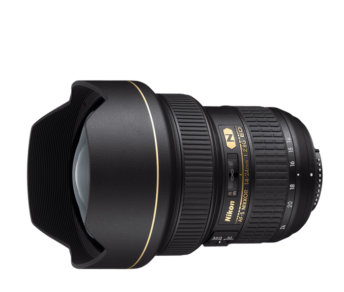 Nikon AF-S NIKKOR 14-24mm f/2.8G EDШирокоугольные<br>Удостоенный наград профессиональный объектив с постоянной максимальной диафрагмой f/2.8 обеспечивает резкость на всех участках кадра. <br> <br> Этот замечательный профессиональный объектив, в котором для уменьшения раздвоений и бликов применяется нанокристаллическое покрытие, обеспечивает исключительную резкость и контраст изображения по всему кадру, зачастую недостижимую при использовании эквивалентных объективов с постоянным фокусным расстоянием. <br> <br> Этот прочный и надежный объектив необходим профессиональному фотографу в любой ситуации.<br><br>Тип: Зум-объектив<br>Фокусное расстояние: 14-24 мм (21-36 мм в формате DX)<br>Максимальная диафрагма: 2.8<br>Минимальная диафрагма: 22<br>Подавление вибраций: Нет<br>Конструкция объектива: 14 элементов в 11 группах (включая 2 элемента из стекла ED, 3 асферические линзы и 1 элемент с нанокристаллическим покрытием Nano Crystal Coat)<br>Угол зрения: FX: 114°–84°, DX: 90°–61°<br>Минимальное расстояние фокусировки: 0,28 м (в диапазоне фокусных расстояний от 18 до 24 мм)<br>Количество лепестков диафрагмы: 9<br>Установочный размер фильтра: Нет<br>Артикул: JAA801DA